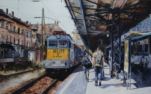 Last Station Budapest - Learn watercolor painting at Heartroom Gallery