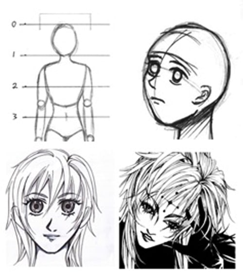 manga art classes singapore - face and body basic techniques