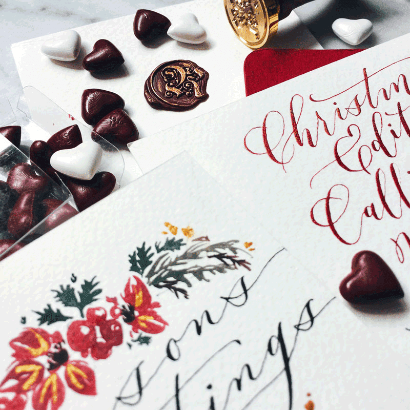 Modern Calligraphy Christmas Workshop Singapore