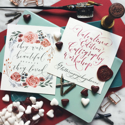Valentine's Day Modern Calligraphy Workshop at Heartroom Gallery